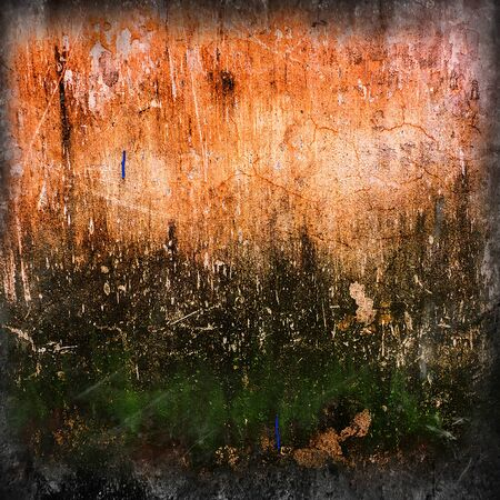 crumbling: surface of an old crumbling plaster on the wall