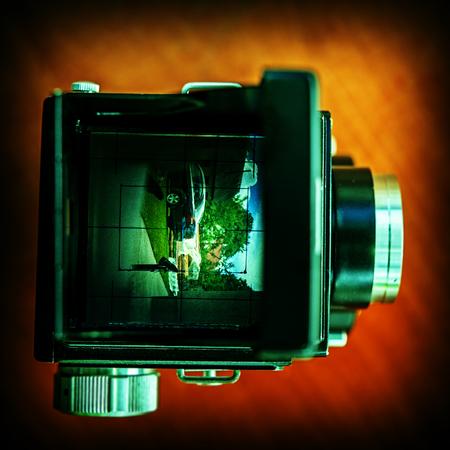 viewfinder: old film camera viewfinder