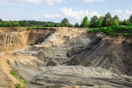 sand quarry: an abandoned sand quarry in the forest
