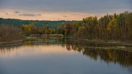redditch: rural landscape river and autumn forest