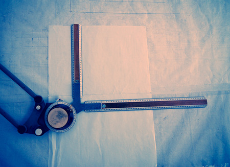 worksite: sheet of paper on the old drawing board