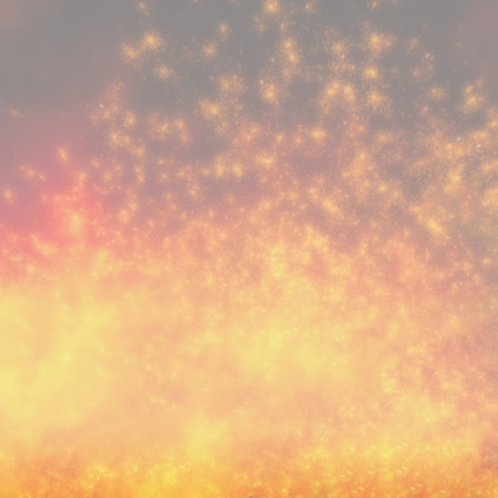 sparks of molten metal, blurred background with a light tone