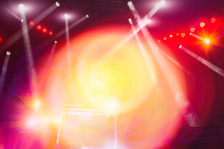 blur the background, concert stage lighting and lighting effects
