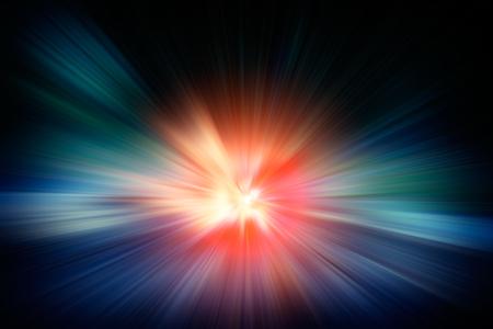 방사형 광선 및 별 조명 효과