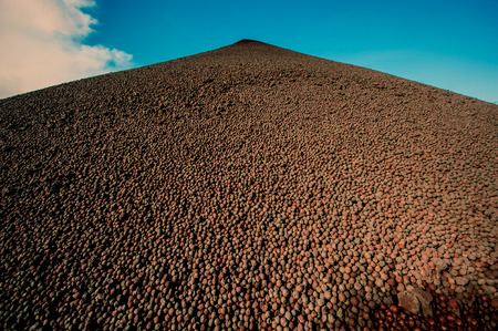 enriched: Enriched iron ore finished products warehouse