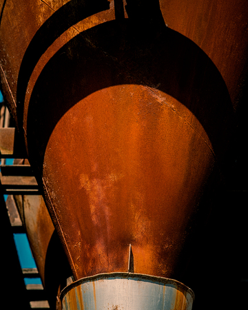 Old rusty industrial silo for bulk materials