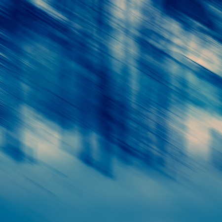 Abstract composition of spots and lines in blue tonality, blurred background