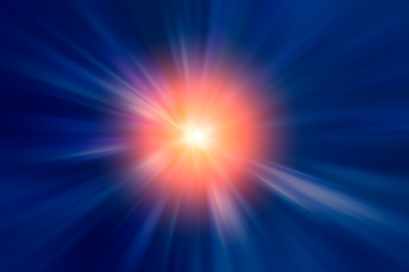 blurred multicolored radial rays expressive abstract composition