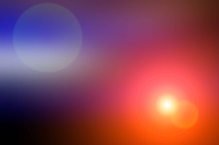 Abstract blurred background and light flash of light. Dark blue and purple, orange spot. Web banner.