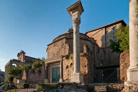 Ruins of the Basilica Aemilia at Roman Forum, Rome, Italy Stock Photo - 8922476
