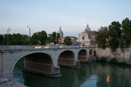cavour: The Cavour bridge in Rome, Italy