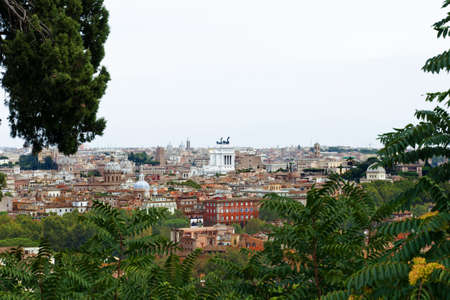 Beautiful view at Rome buildings and Vittorio Emanuelle || Monument in Rome, Italy photo