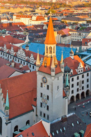 View at the tower of the old city hall in Munich, Germany Stock Photo - 9879465