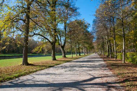 nymphenburg palace: Walk in the Nymphenburg park in Munich