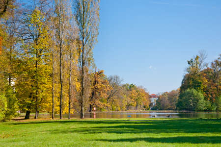 nymphenburg palace: Pond in the famous Nymphenburg park in Munich