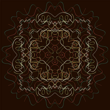 sari: Indian Pattern - Detailed and easily editable Illustration
