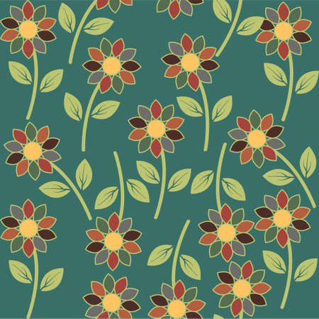 easily: Abstract flower seamless pattern background Easily editable vector image