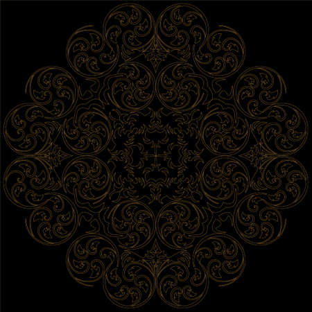 easily: Abstract background with damask pattern Easily editable vector image