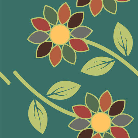 textile image: Abstract textile colorful flowers seamless pattern background Easily editable vector image