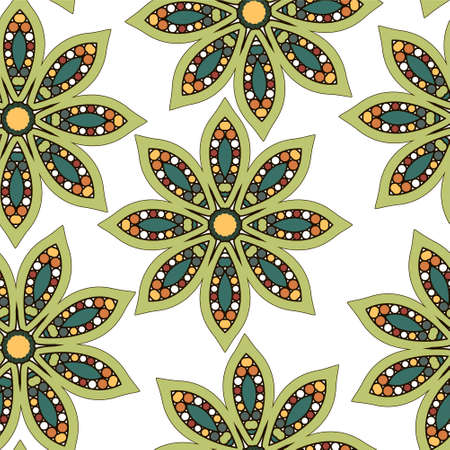 easily: Floral pattern seamless Easily editable vector image