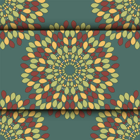 petite: Abstract geometric flowers seamless pattern. Floral background.Easily editable vector image