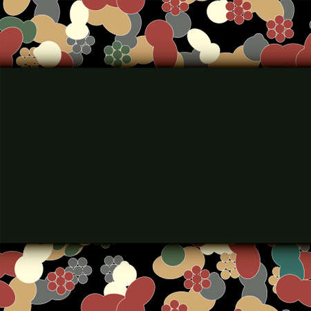petite: Abstract geometric flowers seamless pattern. Floral background. Easily editable vector image