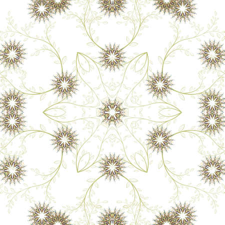 seamless pattern floral: Abstract geometric flowers seamless pattern. Floral background.Easily editable vector image