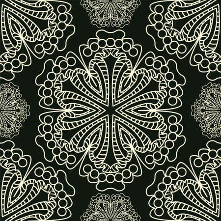 easily: Vector. Seamless damask pattern easily editable vector image