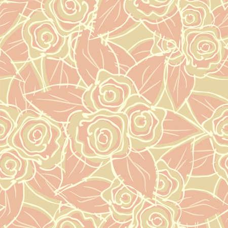 easily: Seamless roses pattern Easily editable vector image