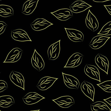 Abstract leafe seamless pattern background Illustration