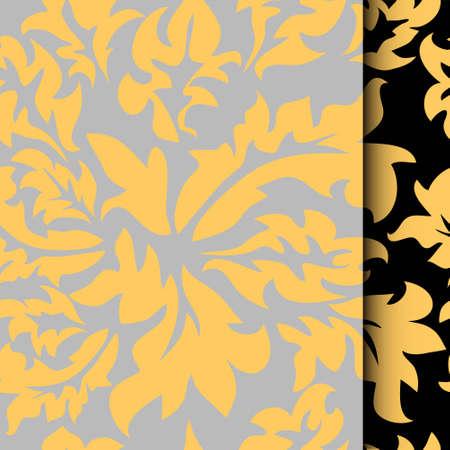 Vector illustration of Damascus style seamless pattern