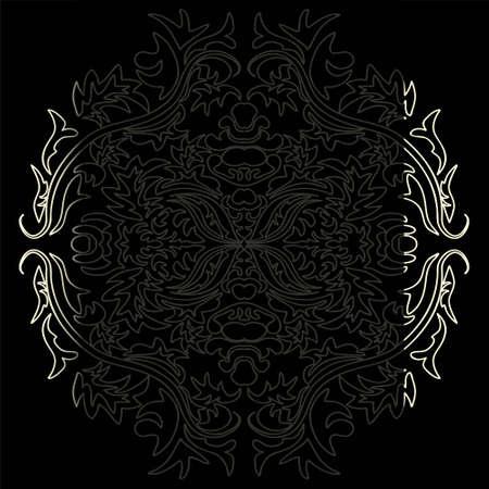 art vintage damask pattern background in vector Ilustração