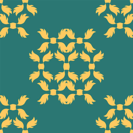royal wedding: Damascus seamless pattern of floral ornament wallpaper background in vintage style