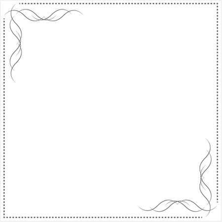 frame for design drawn in vector Vettoriali