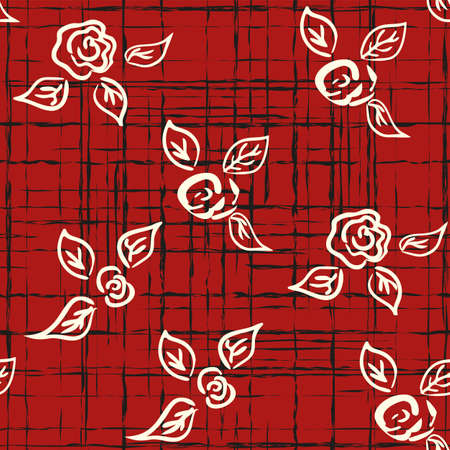 Vector seamless patern graphic roses on a background. Archivio Fotografico - 126977141