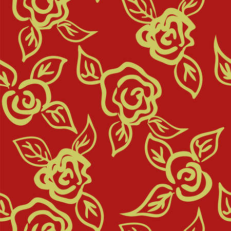 Vector seamless patern graphic roses on a background. Archivio Fotografico - 126977143