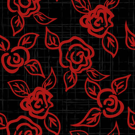 Vector seamless patern graphic roses on a background. Archivio Fotografico - 126977144