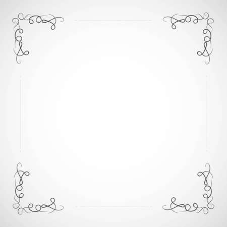 Fancy frame border with decorative ornament. Vector illustration 免版税图像 - 126977151