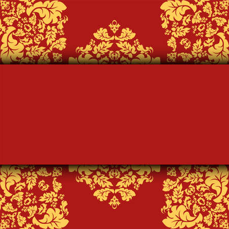 greeting card, invitation card and background easily editable vector image  イラスト・ベクター素材