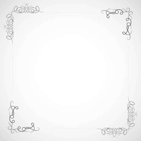 Fancy frame border with decorative ornament. Vector illustration
