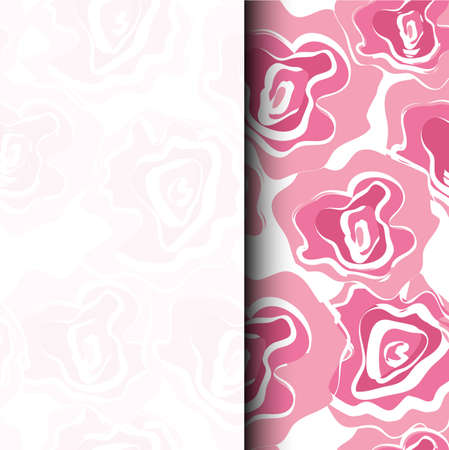 Vector seamless patern graphic roses on a background. Archivio Fotografico - 126476040