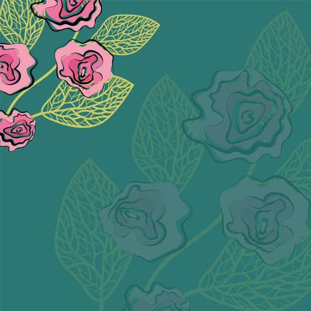 pattern of rose, Illustration
