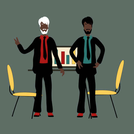 Flat design style modern vector illustration concept of successful partnership, business people cooperation agreement, teamwork solution and handshake of two businessman