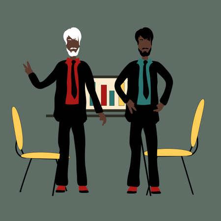 Modernes Vektor-Illustrationskonzept der flachen Designart der erfolgreichen Partnerschaft, Geschäftsleute-Kooperationsvereinbarung, Teamwork-Lösung und Händedruck von zwei Geschäftsmann