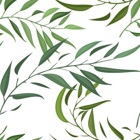 Un patrón sin costuras con vector de hoja
