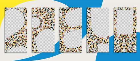 Editable trendy template for social networks. Vector illustration for social media