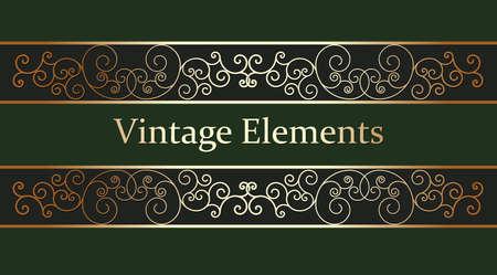 Calligraphic Design Elements Vintage Stile Vector Illustration