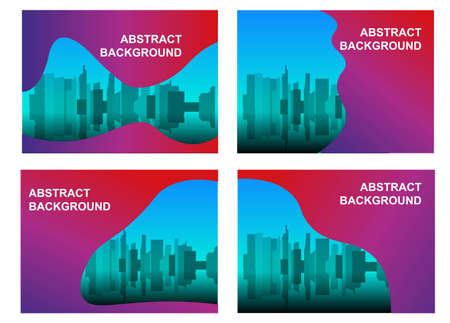 Business concept template with city background 向量圖像