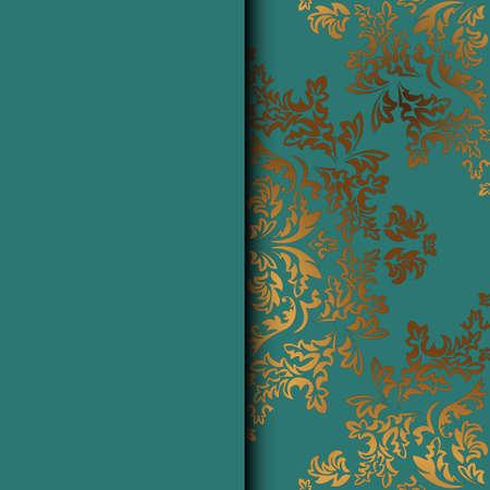 Carte de voeux abstraite, fond avec des fleurs et des feuilles décoratives. Pour les cadeaux, la décoration et les invitations pour votre conception. Avec une place pour votre inscription Vecteurs