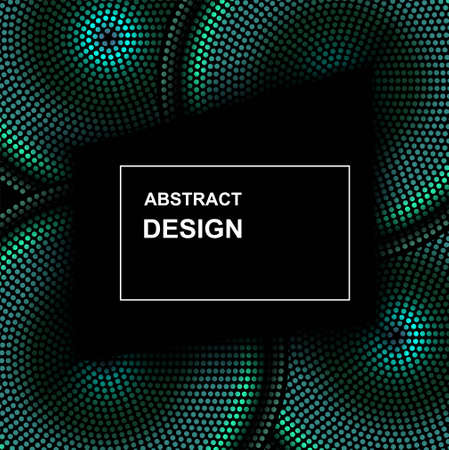 Vector abstract halftone circle frame. Abstract dotted gradient  design elements. Grunge halftone textured pattern with dots Çizim